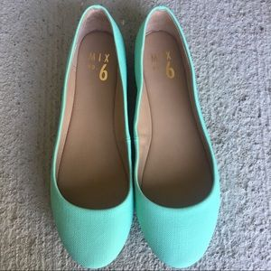 Teal Danzey Ballet Flats by Mix No. 6